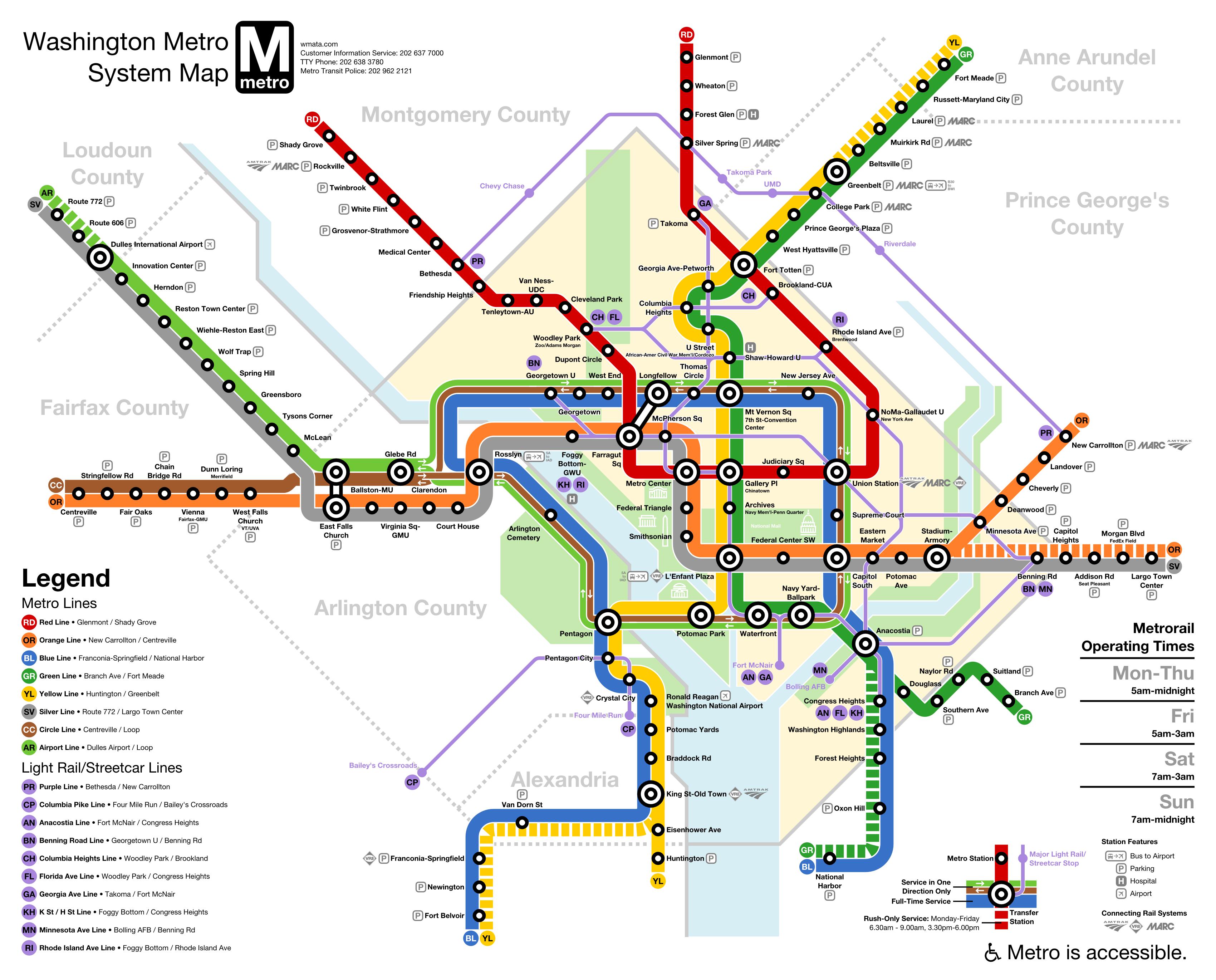 Printable Dc Metro Subway Map.Wmata Washington Dc Metro Downtown Loop Line Subway Expansion Map