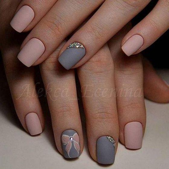 uñas rosadas estilo mate … | Pinteres…