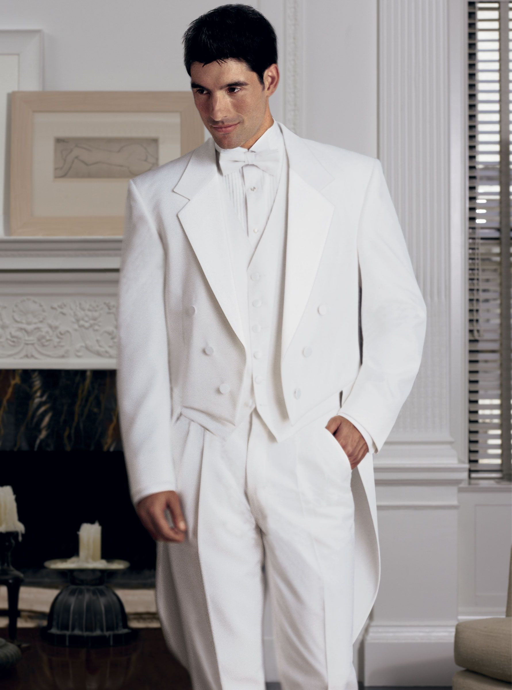 White Full Dress Tuxedo by Lord West | The White Tux | Pinterest ...
