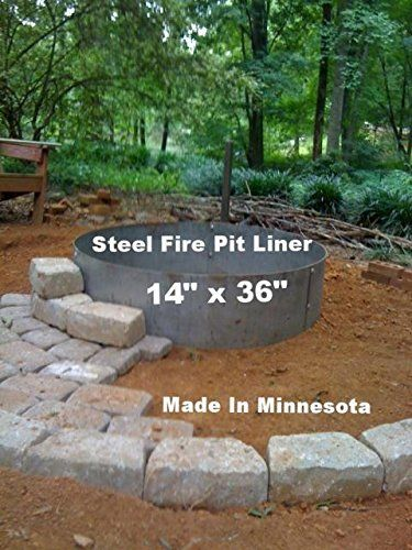 ab71297fcb7c5 Steel Metal Fire Pit Ring Liner Insert 36