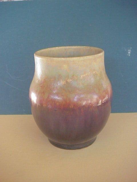 C 1915 Grand Feu Pottery Flambe Glaze Los Angeles California Artist Signed Tt Arts Crafts Pottery California Pottery Pottery Vase
