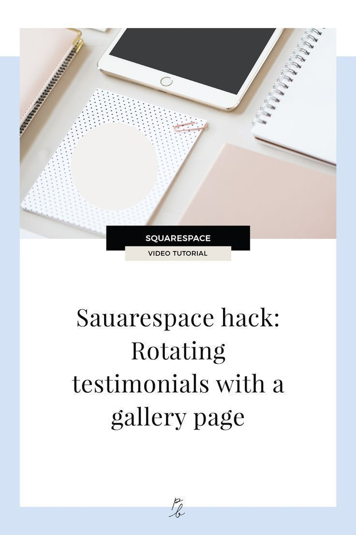 Squarespace hack How to make rotating testimonials with a gallery page is part of Squarespace hacks, Squarespace website design, Squarespace tutorial, Squarespace design, Website design, Web design tips - So you may have heard of the hack out there about how to create a section of rotating testimonials with the Squarespace summary block  If you're unfamiliar, I teach you how to do it in this post