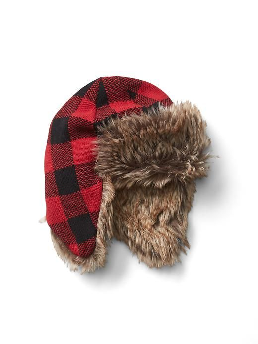 1fac2c58 buffalo plaid trapper hat | For William | Girls winter hats, Trapper ...