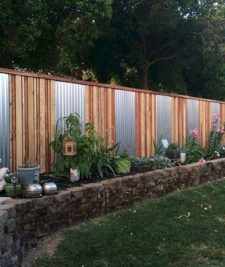 45 Simple And Cheap Privacy Fence Design Ideas Cheap Privacy