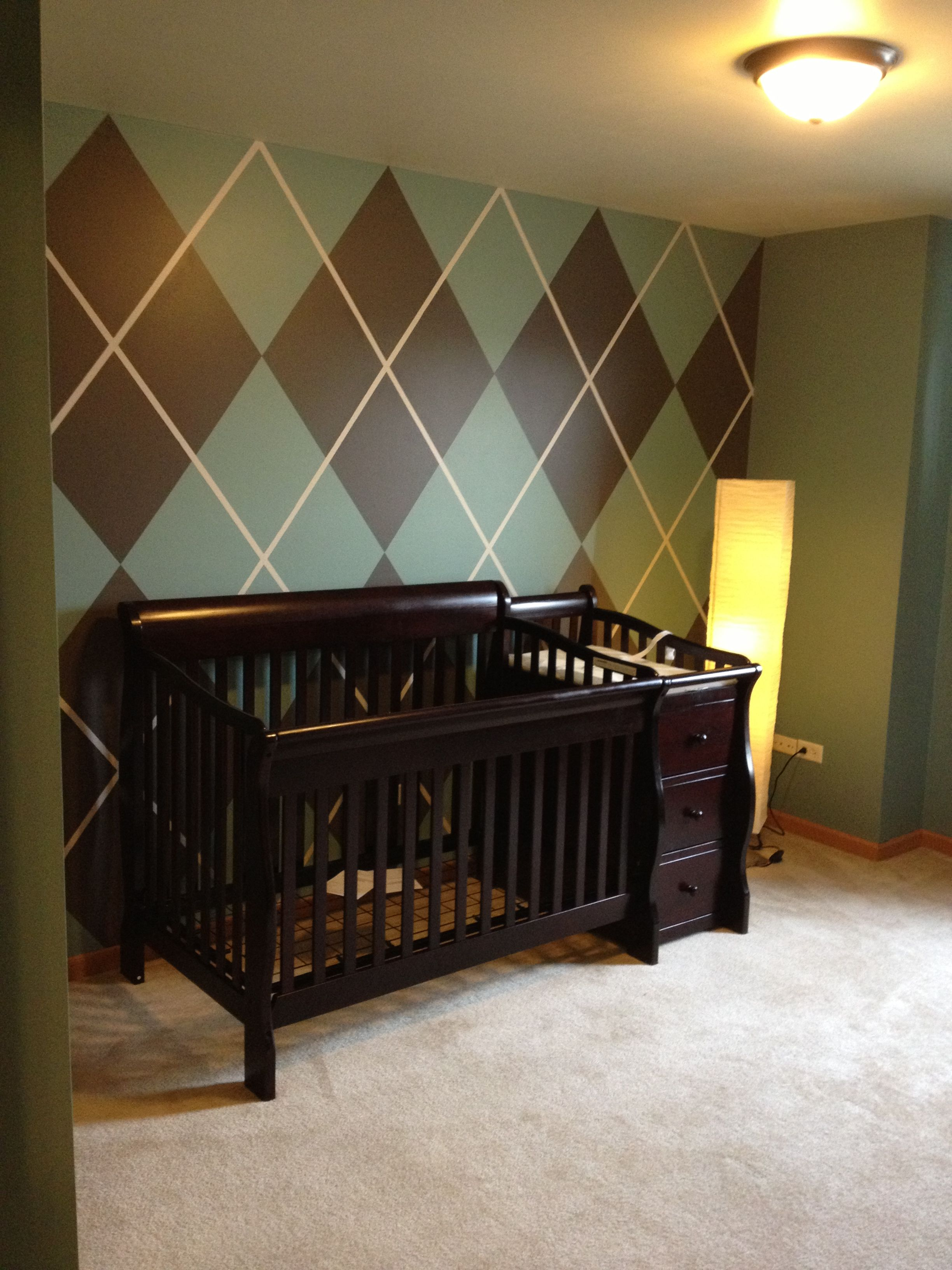 Do it yourself argyle wall for maples room in aqua ivory brown do it yourself argyle wall for maples room in aqua ivory solutioingenieria Image collections