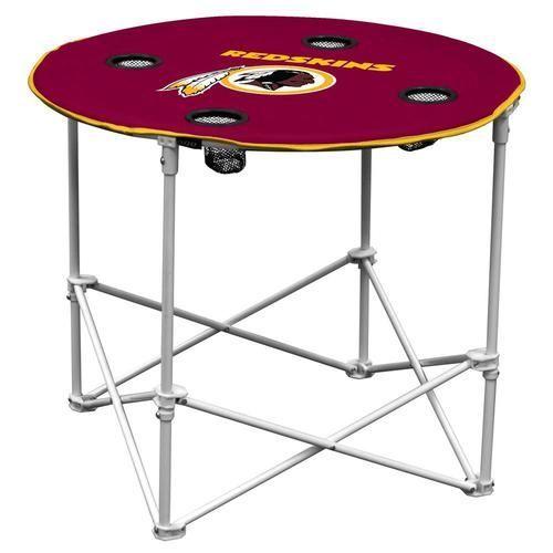 Washington Redskins Folding Round Table