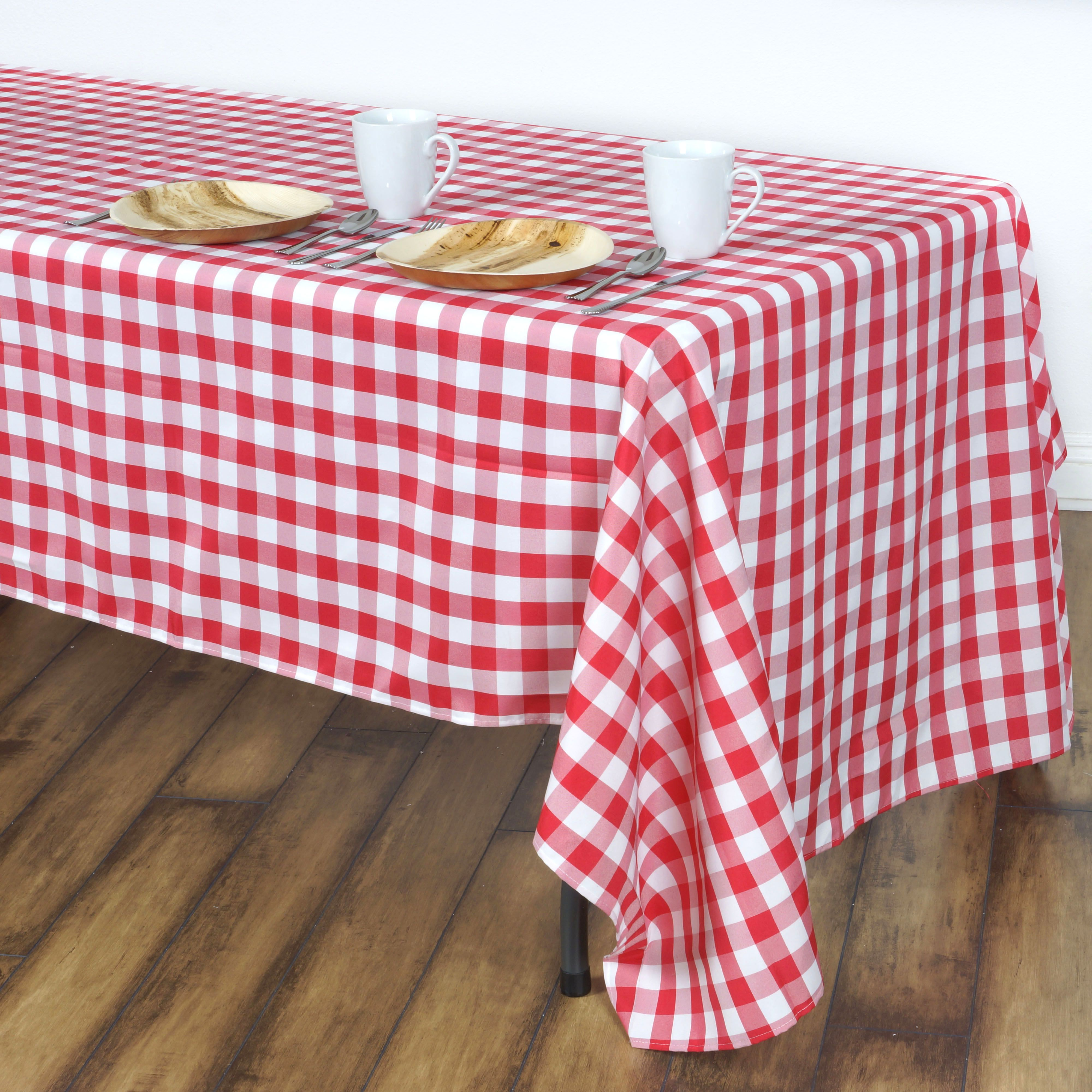 Efavormart Perfect Picnic Inspired Checkered 60x102 Polyester Rectangle Tablecloths For Kitchen Dining Catering Wedding Birthday Walmart Com In 2020 Checkered Tablecloth Table Cloth Plaid Tablecloth