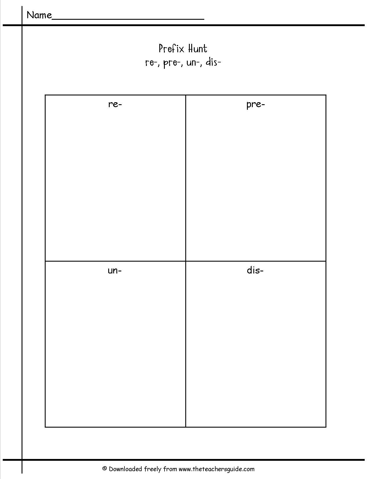 Free Prefixes And Suffixes Worksheets From The Teacher S