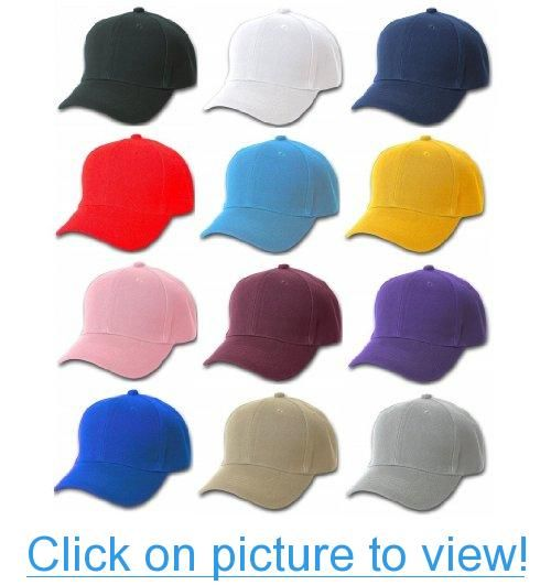 2abb397fc Plain Baseball Cap Blank Hat Solid Color Velcro Adjustable #Plain ...