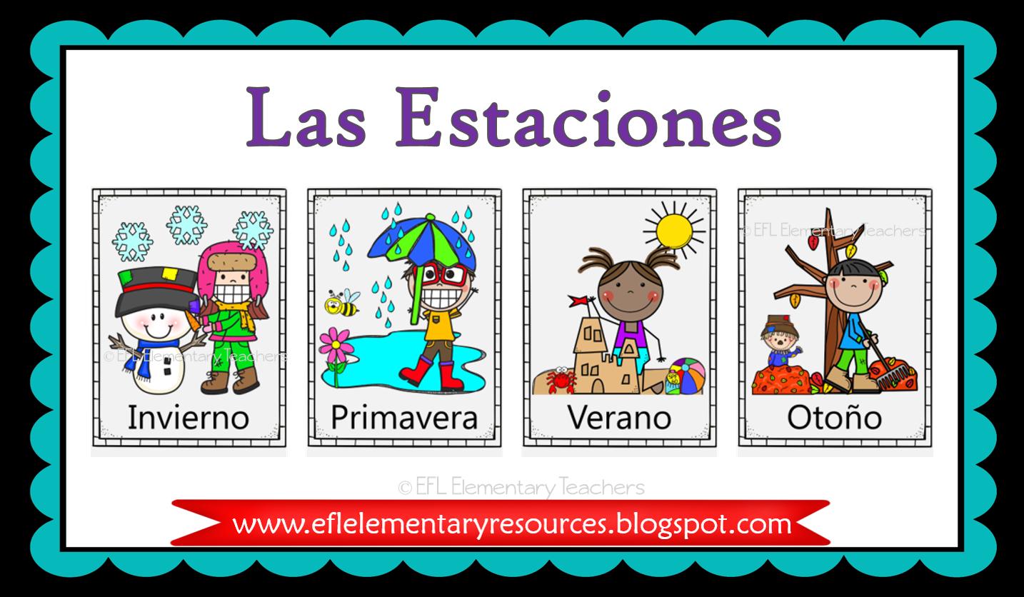 Esl Las Estaciones Flashcards Espanol