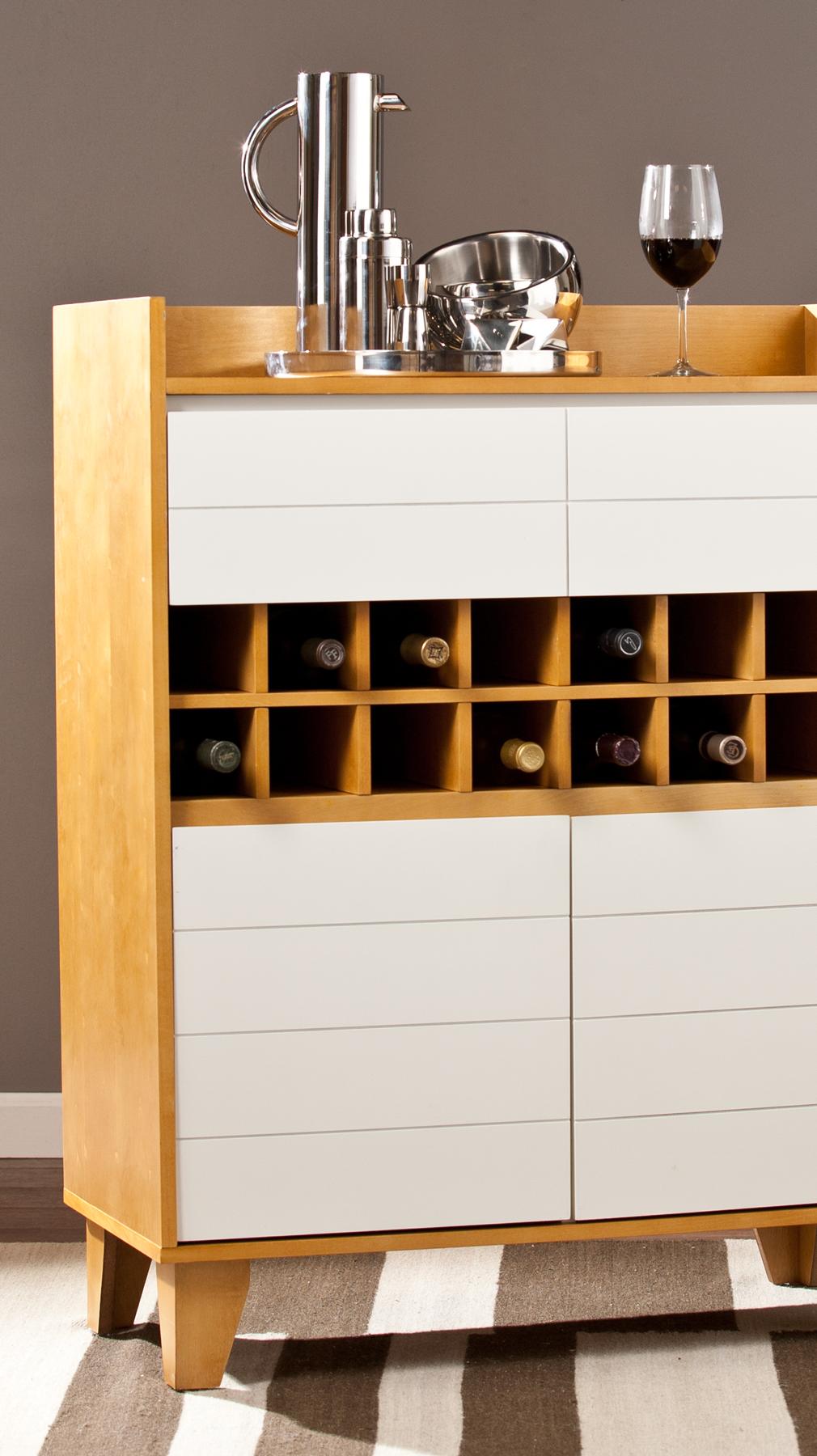 Weinschrank / Bar mit weißen Schubladen | Zuhause: Küche | Pinterest ...