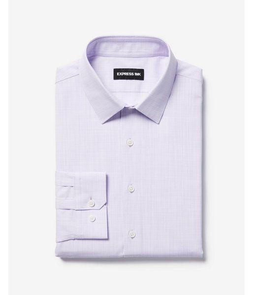 36a38fd87d0 Big   Tall Classic Slub Easy Care 1Mx Shirt Purple Men s XXL