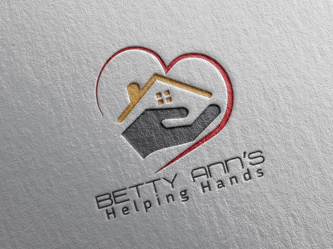 BETTY ANN'S HELPING HAND LOGO. Helping hands logo, Hand