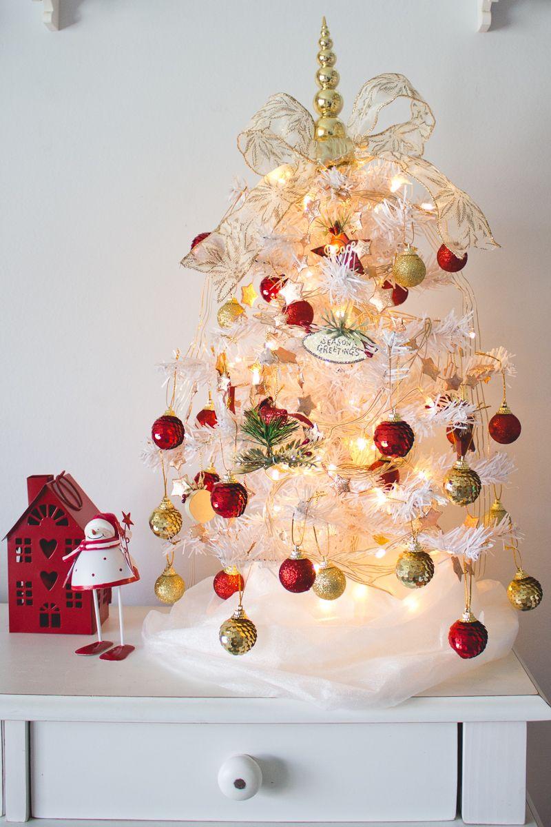 Decoracao De Natal No Quarto Arvore De Natal Branca Arvore De