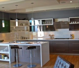 Sf Upper Height Lacquer And Veneer Bay Area Cabinetry