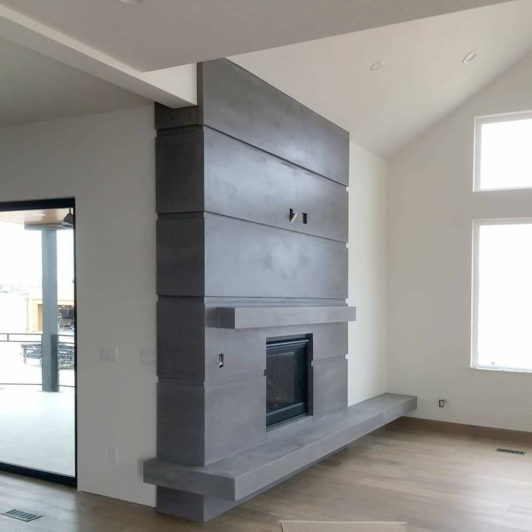 Sneak Peak At A Recently Installed Contemporary Panel Fireplace Surround We Can T Get Over Those Views Excited T In 2020 Fireplace Fireplace Surrounds Fireplace Wall