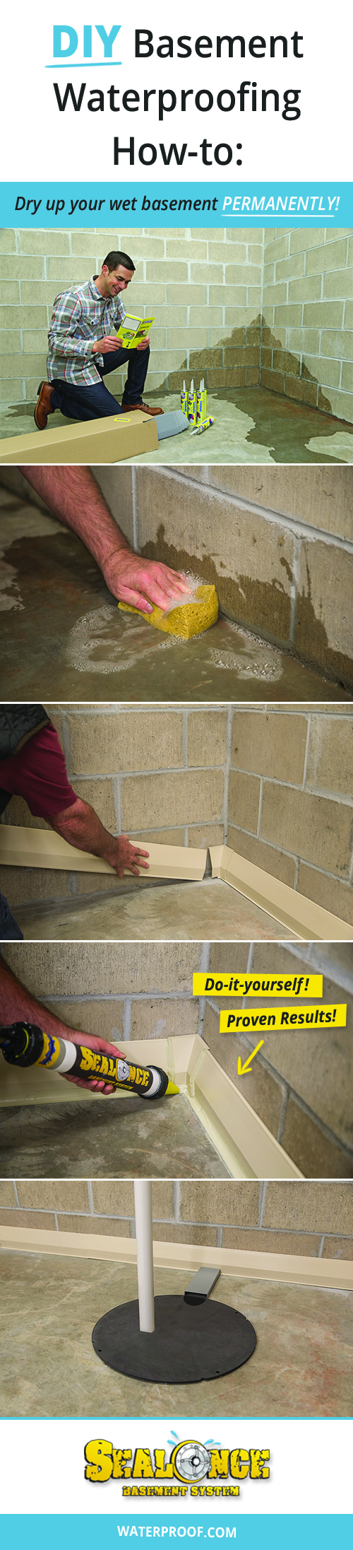 Step DIY Basement Waterproofing Guide How To Dry Up Your Wet - Basement framing guide