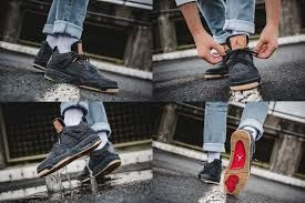 bfd995e3f46248 Image result for air jordan 4 levi black on feet
