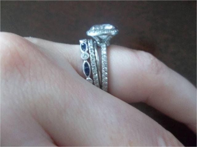 Er Needed With Pave E Ring Stackable Wedding Bandsstacking Ringswedding