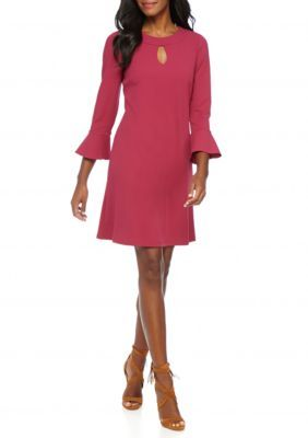 MSK Berry Bell-Sleeve Shift Dress