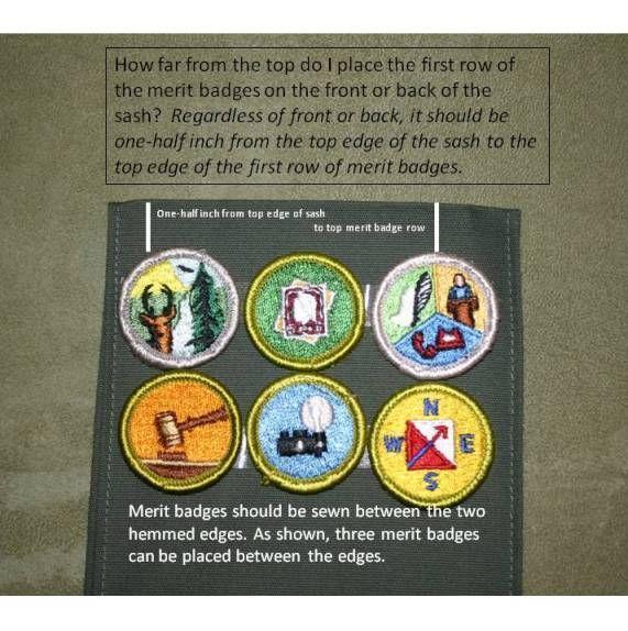 Badge Sash Scout Merit Eagle