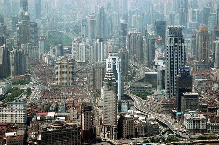 Chiny - Szanghaj , widok z 88 piętra wieżowca Jin Mao