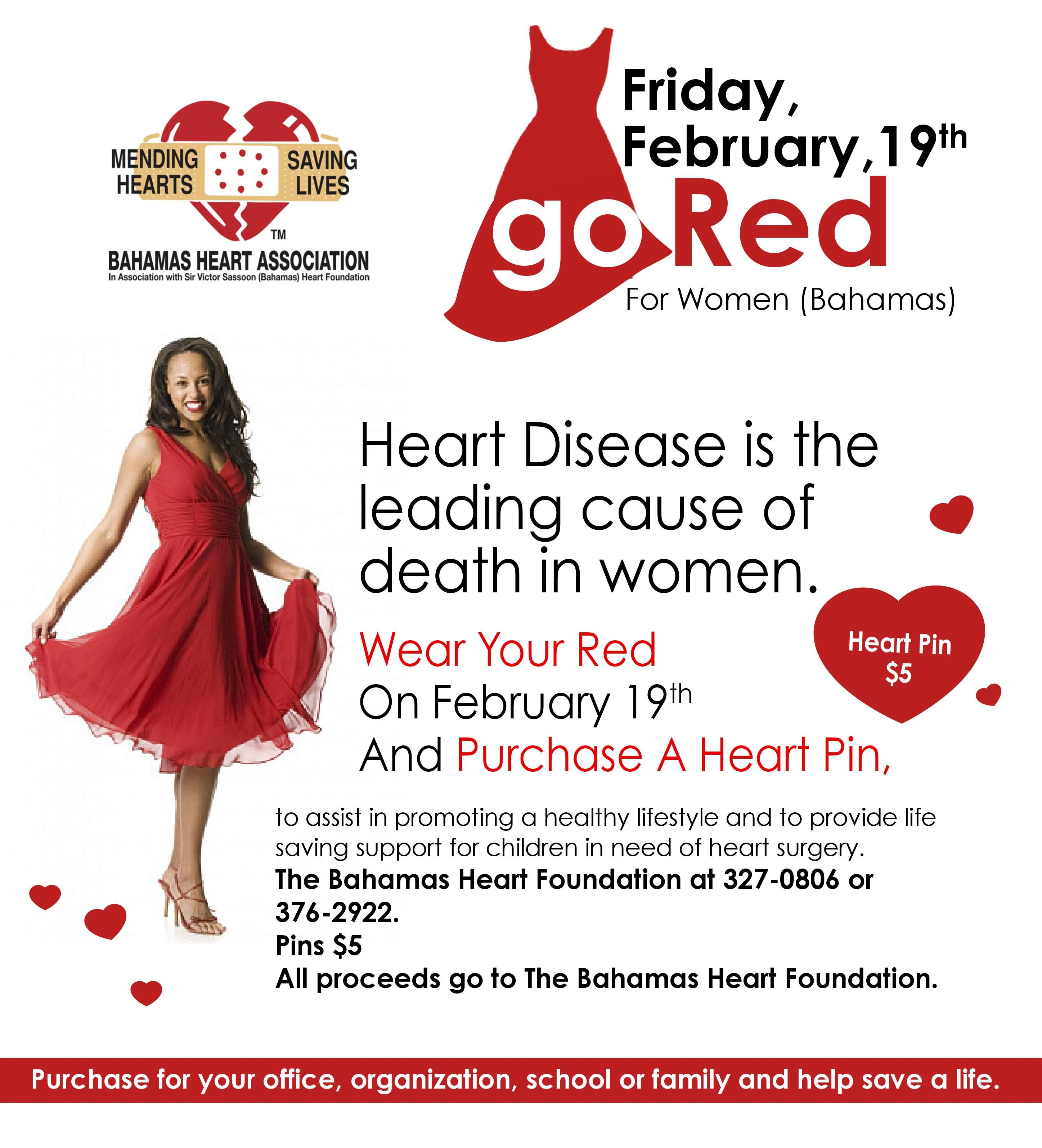 Go Red For Women In Bahamas On Feb 19th At Bahamas
