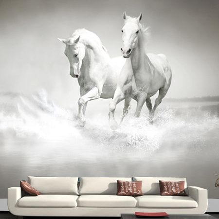 Wholesale 3d horse mural wallpaper for tv background sofa bedroom ...