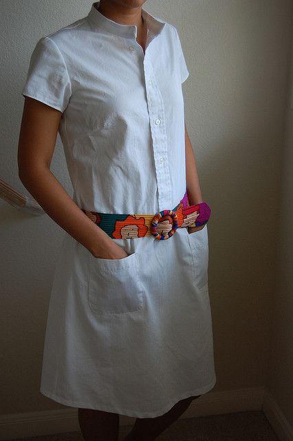 Refashion shirt dress