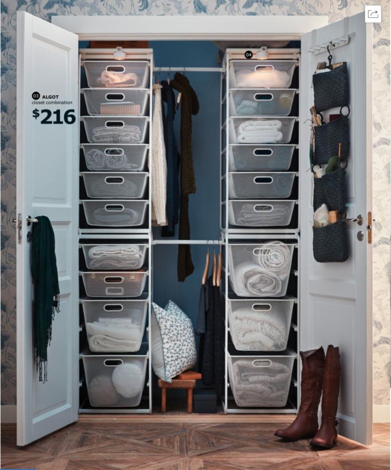 Closet ideas Ikea closet organizer, Walk in closet ikea