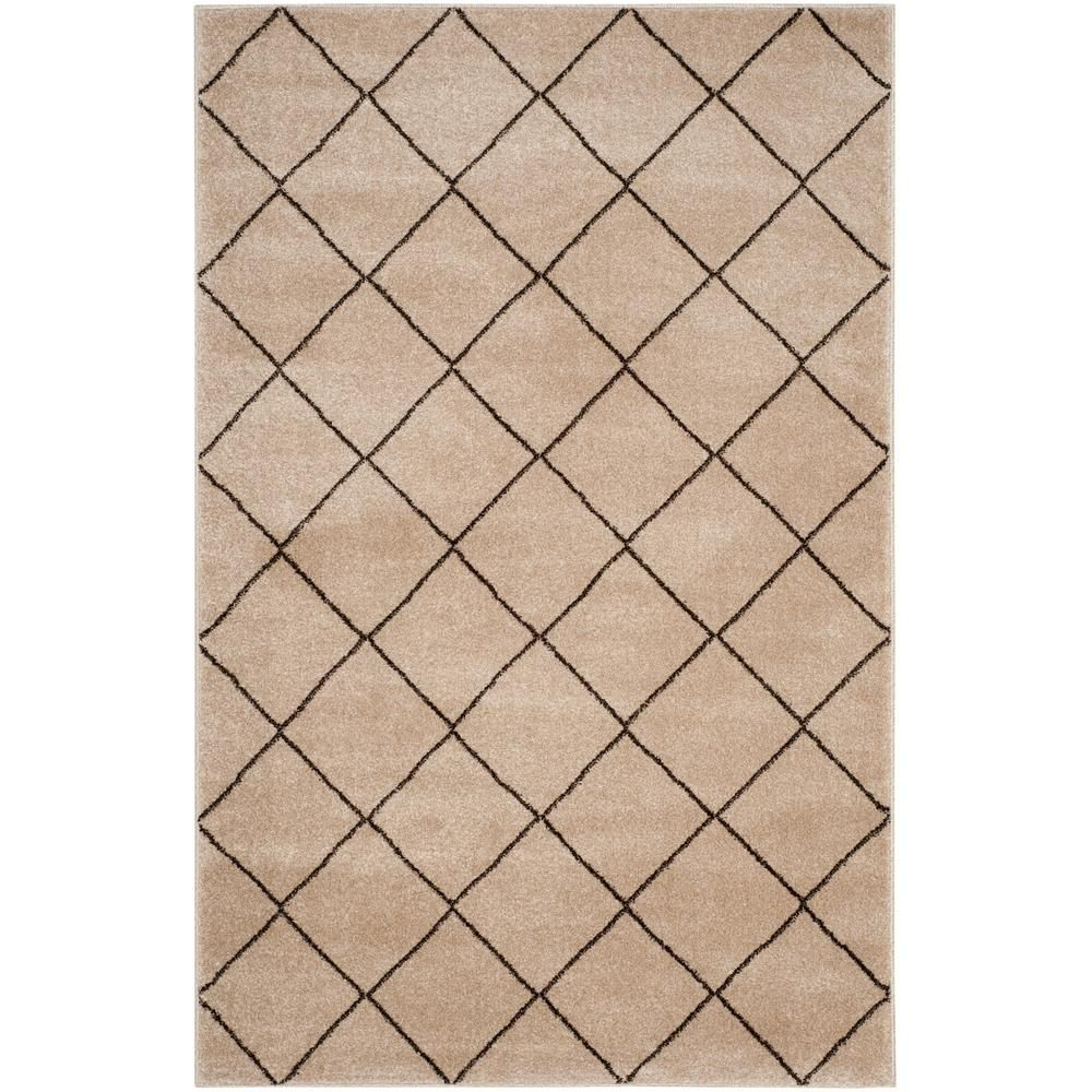 Safavieh Tunisia Cream Brown 4 Ft X 6 Area Rug Tun294d The Home Depot
