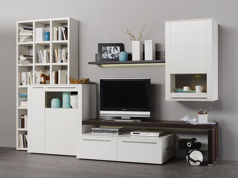 modern bellano wall storage unit/cabinets/tv unit and sideboard