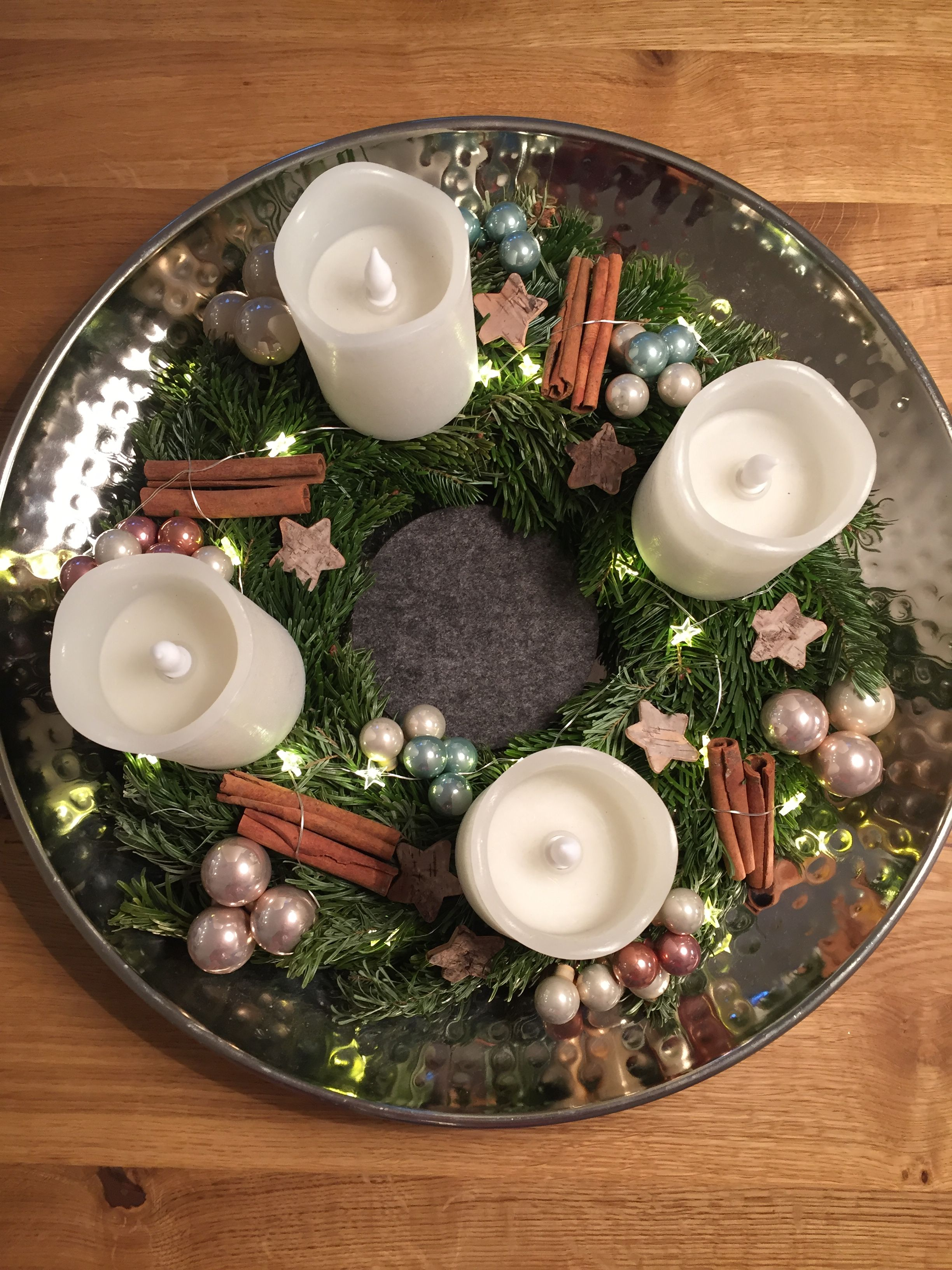 Adventskranz Diy Kindersicher Mit Led Kerzen Und Lichterkette