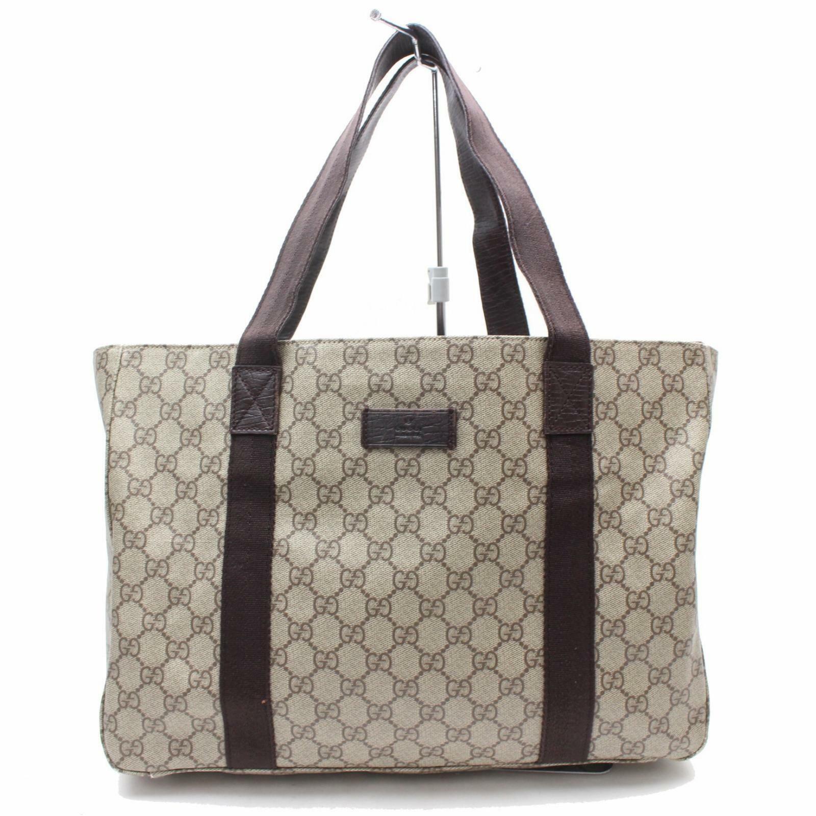 221ea3b3ff41 Details about Authentic GUCCI GG Plus Tote Bag Handbag PVC in 2019 ...