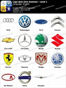 Auto Logo Quiz Answers Logo Quiz Cars Answers Game Solver