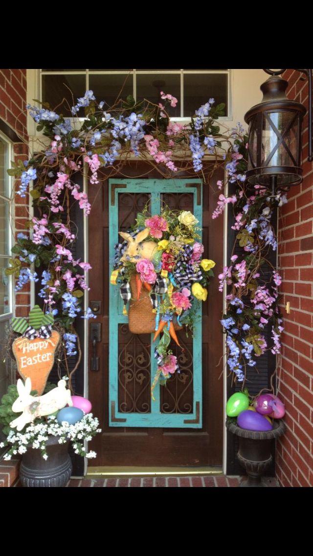 Front door decor! | Easter/Spring Wreaths | Pinterest | Front door ...