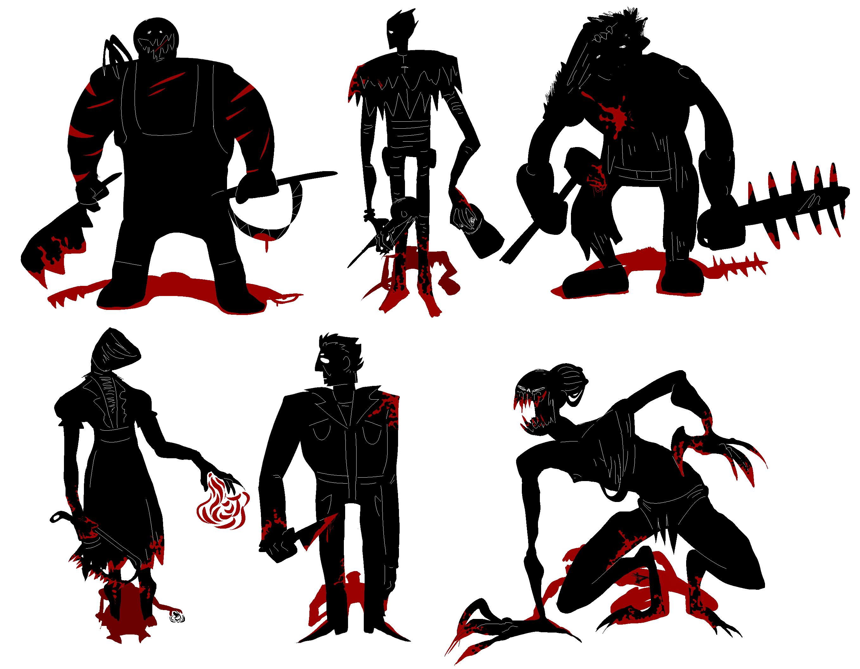 Dead By Daylight Killers By Adventurer13n Daypvte Png 2716 2111 Dead Daylight Fan Art