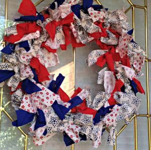 Photo of Fourth of July Fabric Wreath