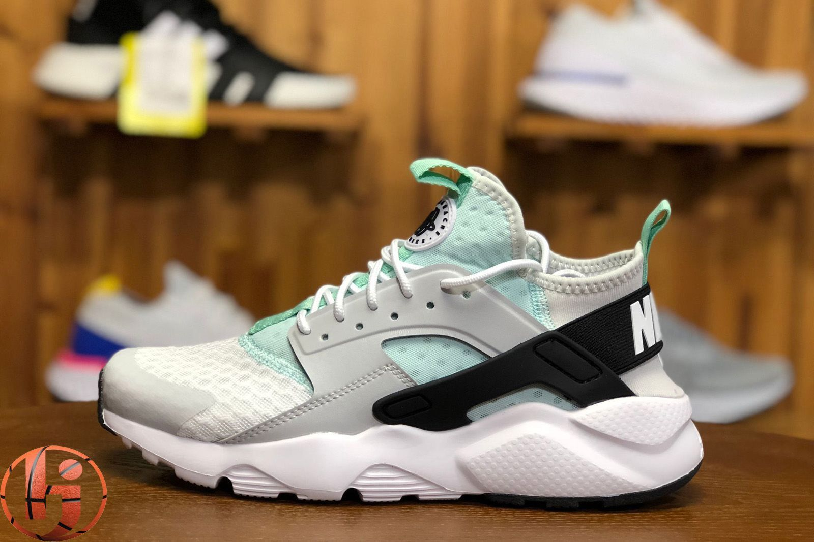 new product 9cae2 6e1c1 Nike Air Huarache Run Ultra Pure Platinum Black-Igloo
