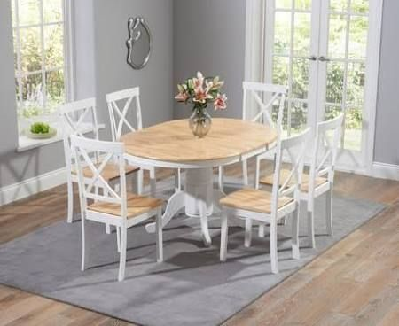White And Oak Dining Table With 6 Chairs  Google Search  Dining Unique Oak Dining Room Table And 6 Chairs Design Inspiration