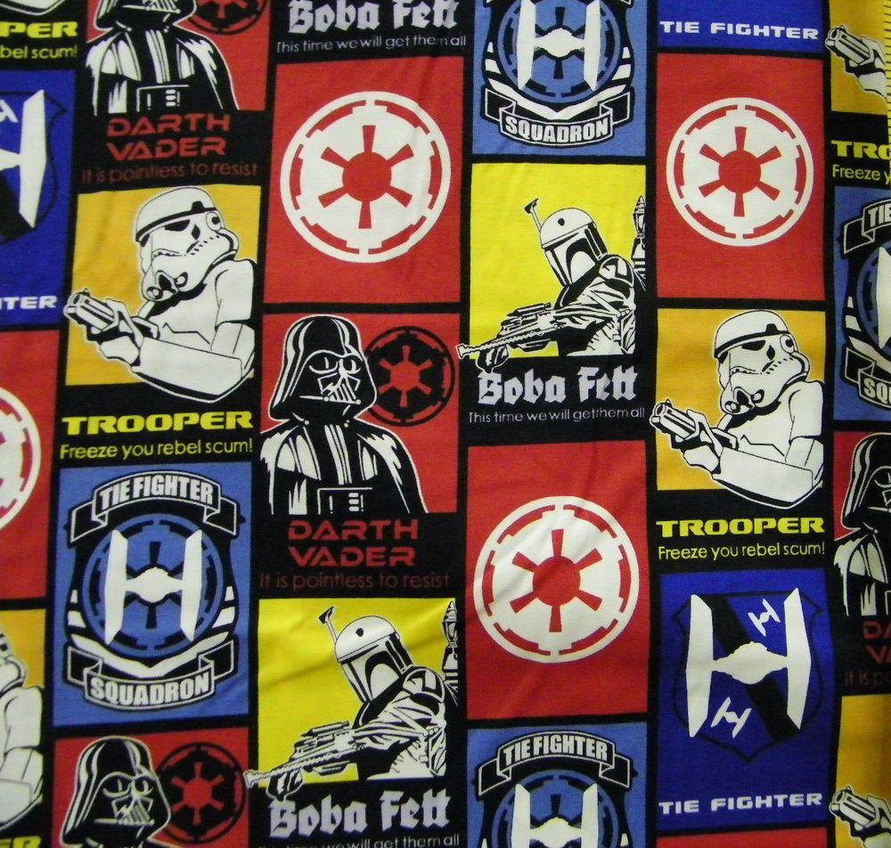 Star Wars Dark Side Glow In The Dark Tie Advanced Fighters 100/% Cotton Fabric