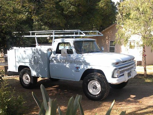 1966 Chevy K 20 4x4 Factory Original Utility Truck Us 7 200 00