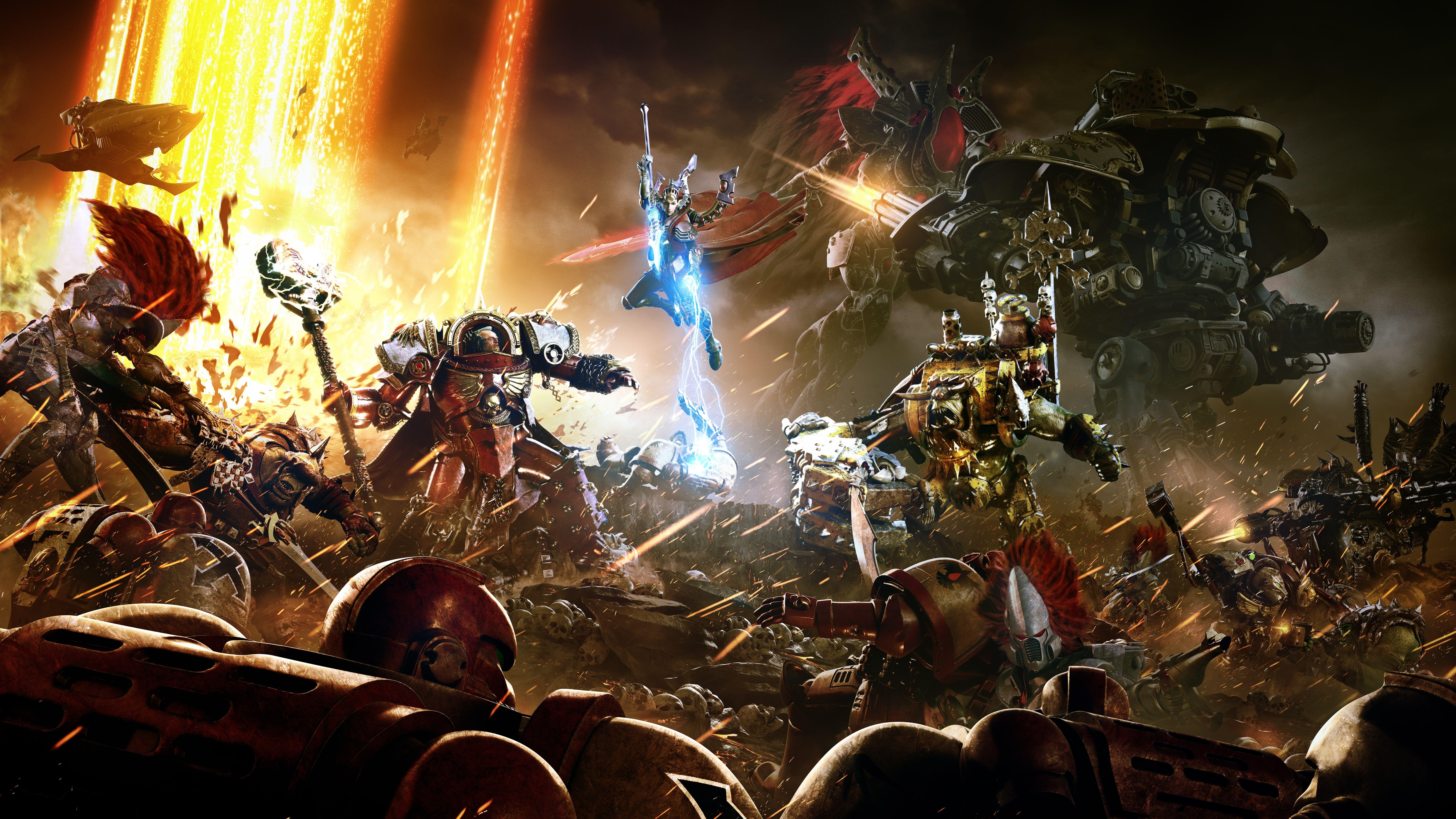 4k 8k Warhammer 40k Dawn Of War Iii 8k Wallpaper Hdwallpaper Desktop In 2020 Imperium 40 000