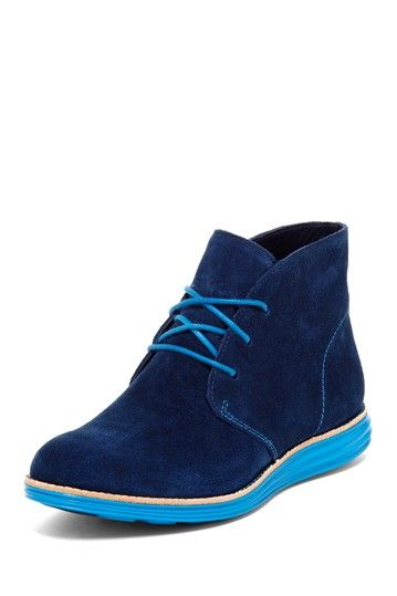 Cole Haan Lunargrand Chukka Bootie - blue suede shoes! :)