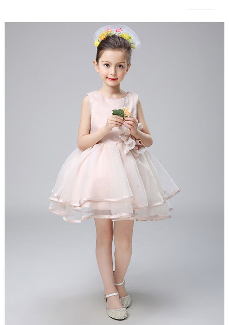flower girl lace dress kid formal wedding dress baby party ball