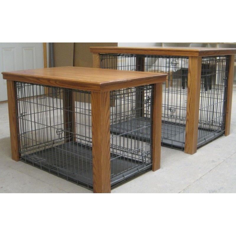 Wooden Table Dog Crate Cover Creative Crafty Pinterest Dog Crate Wooden Tables And Crates