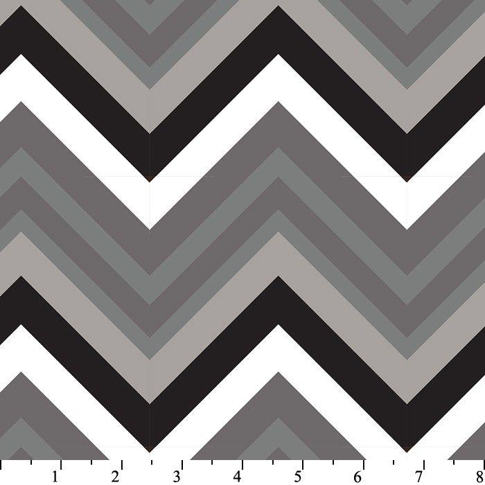 dc916b5155 Shades Of Gray Chevron Minky Plush Fleece Fabric