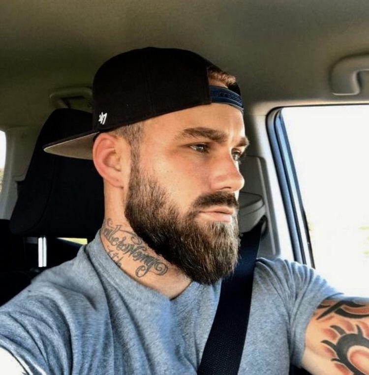 Rostro Bello Pelo Corto Y Barba Barba Sin Bigote Barba De Lenador
