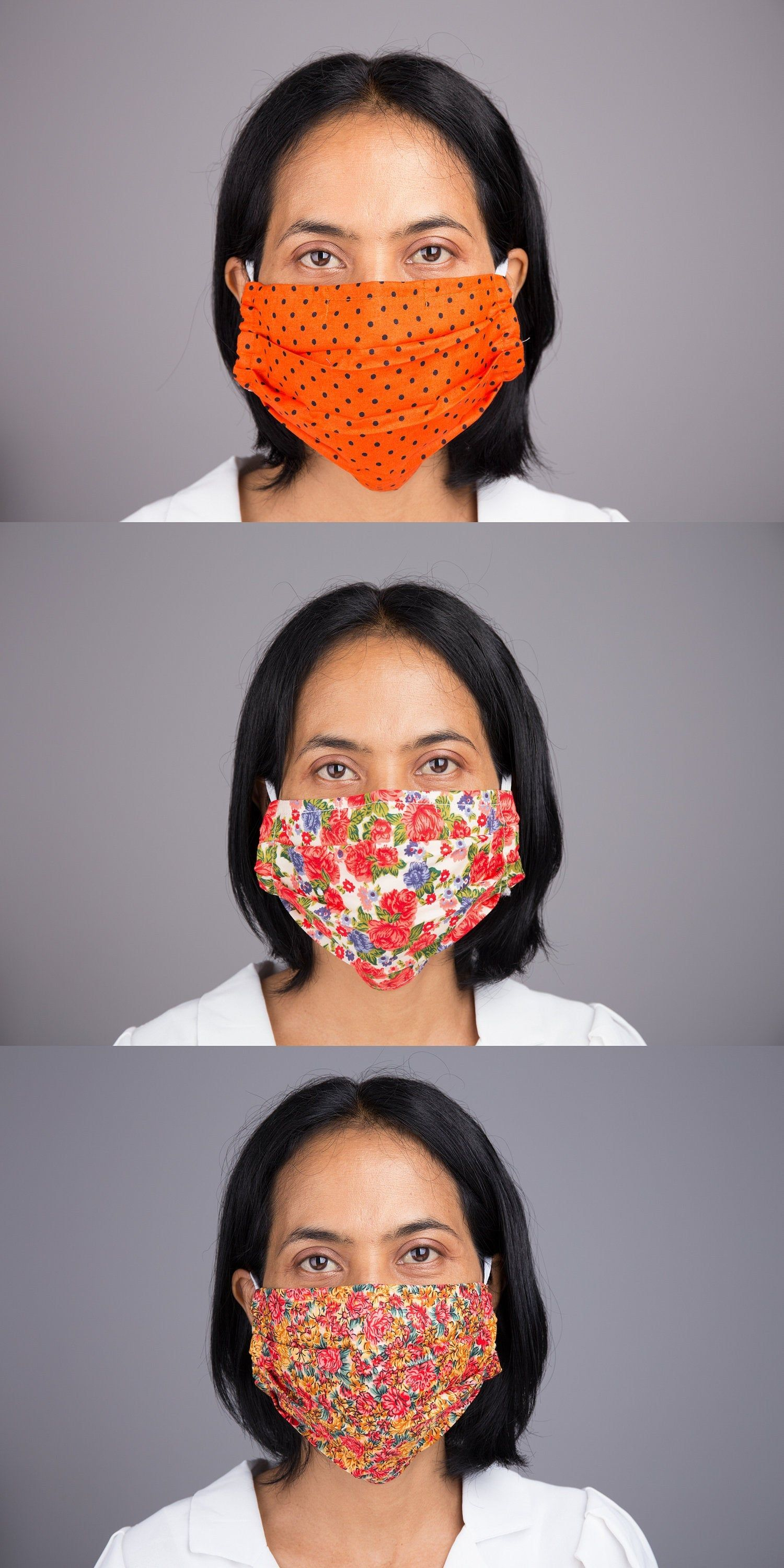 Pin on fabric face mask