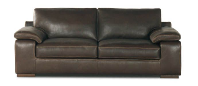 Violino 3532 Leather Two Over Two Sofa With Padded Arms Furniture